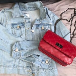 Old Navy Denim Jacket + red purse bundle